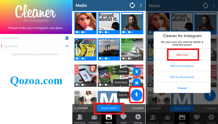 How To Delete Multiple Photos using Cleaner for Instagram