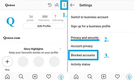 How To See all Blocked Contacts on Instagram
