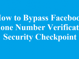 How to Bypass Facebook Phone Number Verification Security Checkpoint