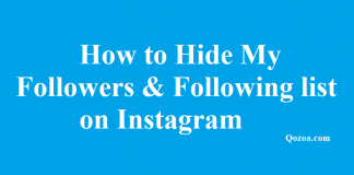 How to Hide My Followers & Following list on Instagram