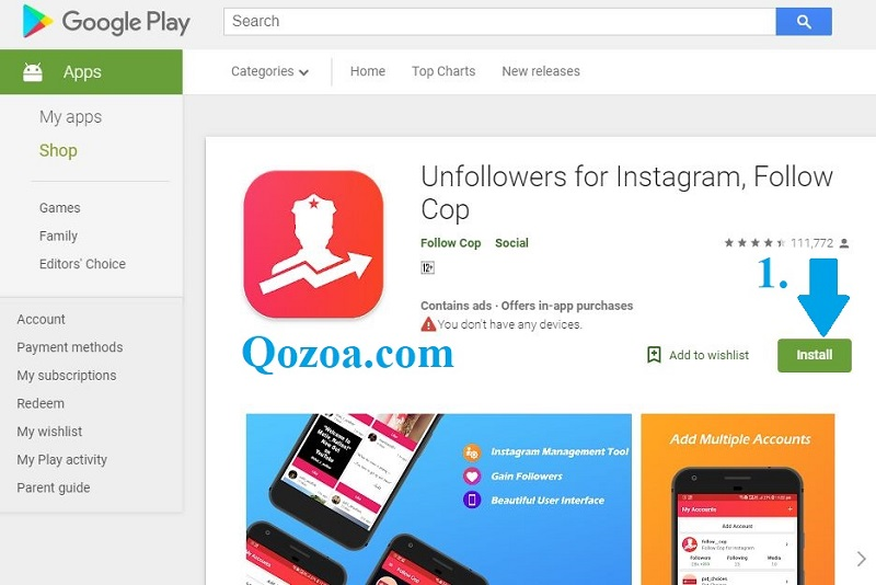 Unfollowers for Instagram – Follow Cop [Android]