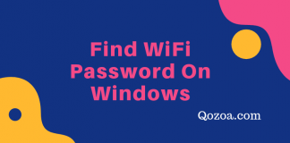 Find WiFi Password On Windows